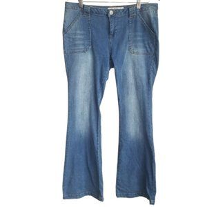 VANILLA STAR / Faded Wash Low Rise Bell Bottoms